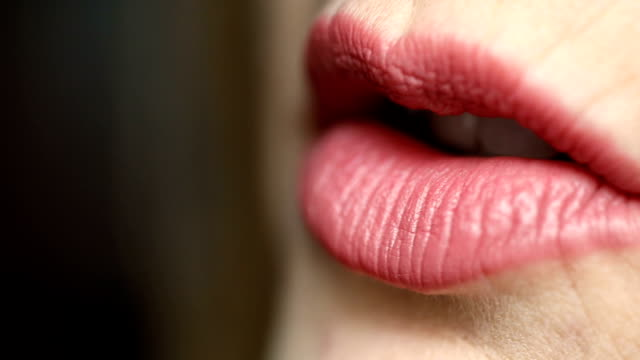 Talking Lips A macro video clip of a woman's lips talking. human lips stock videos & royalty-free footage