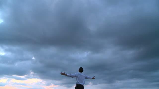 hd crane: talking to god - god stock videos & royalty-free footage