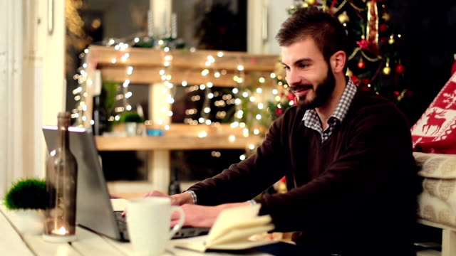Talking with girlfriend via internet on christmas night video
