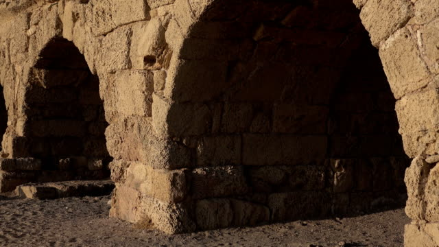 Tall Archways of Roman Aqueduct video