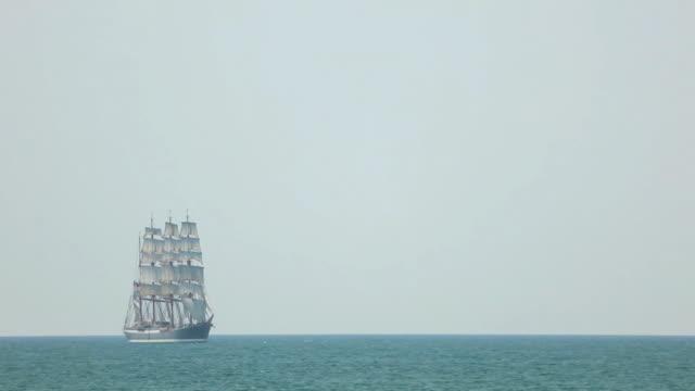 tall ship  in full sail video