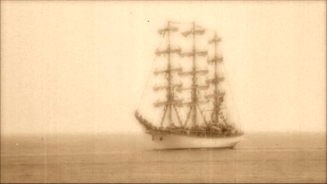 tall ships tall ships - stylized old movie mast sailing stock videos & royalty-free footage