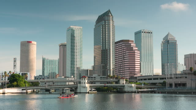 Tampa Florida USA downtown city skyline in the morning