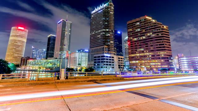 tampa, florida - trafik zaman atlatma stok videoları ve detay görüntü çekimi