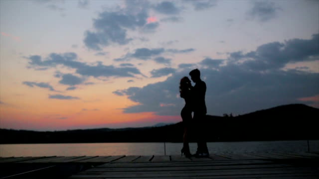 tango in the twilight - heterosexual couple stock videos and b-roll footage