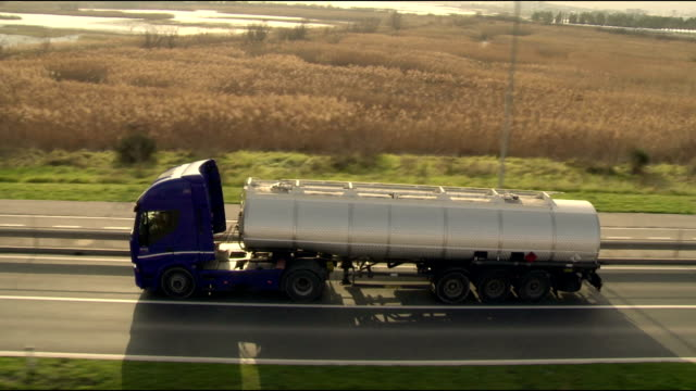 HA TS Tanker Truck Driving On The Road video