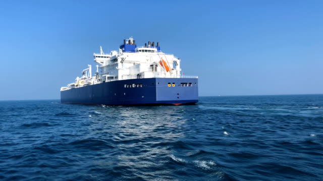 lng tankers in the sea - nave cisterna video stock e b–roll