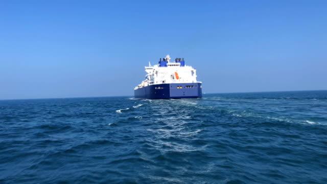 LNG タンカーは海 ビデオ