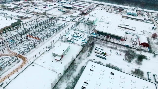 Tanks and pipes in a liquefied gas storage aerial photography video