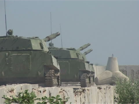 Tanks leave the position video