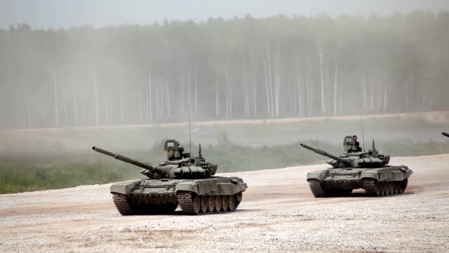 Tanks on the road Tanks driving on the road russian ethnicity stock videos & royalty-free footage