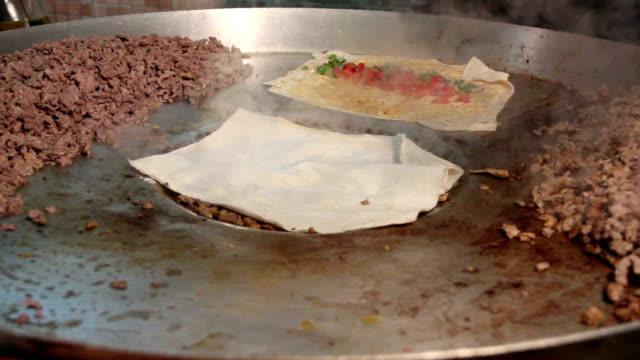 Tantuni traditional Turkish kebab. video
