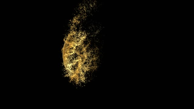 Taoism or Daoism Religious symbol Particles Animation, Magical Particle Dust Animation of Religious Taoism or Daoism Sign with Rays. Creating Taoism or Daoism Religious Icon from Particle Dust Animation. yin yang symbol stock videos & royalty-free footage