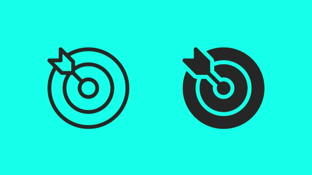 Target and Arrow Icons - Vector Animate