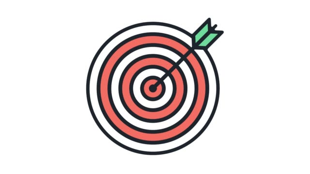 Target Market Analysis Line Icon Animation with Alpha