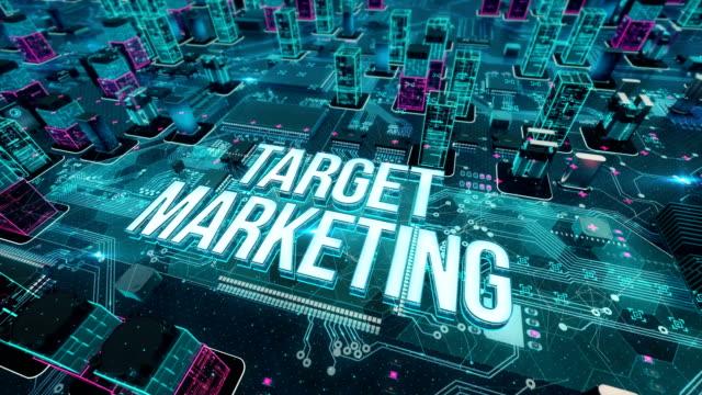 vidéos et rushes de cible marketing avec le concept de la technologie numérique - marketing