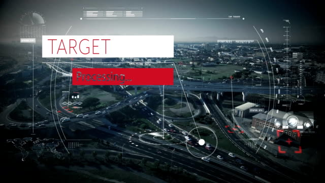 Target processing text against cityscape