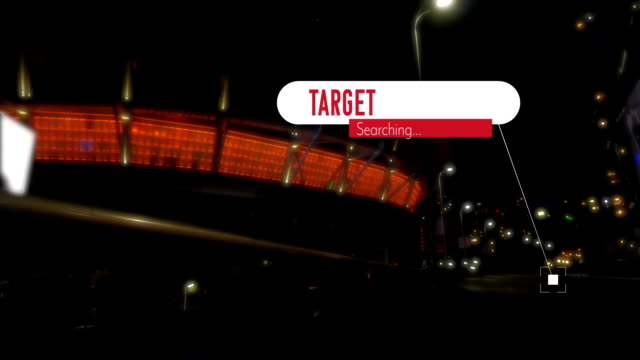 Target searching text against city traffic