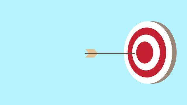 target with arrows animation - strzelać piłkę filmów i materiałów b-roll