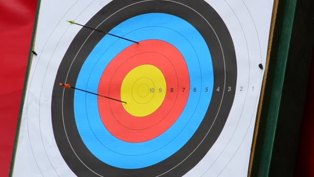 Targets for archery. video