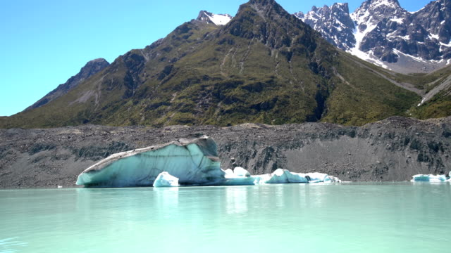 Tasman-Gletscher in Neuseeland Aoraki Mt Cook National Park. – Video