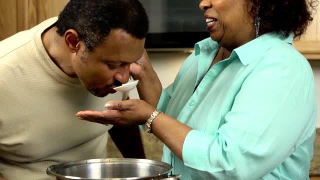 Tasting Healthy Soup - CU video