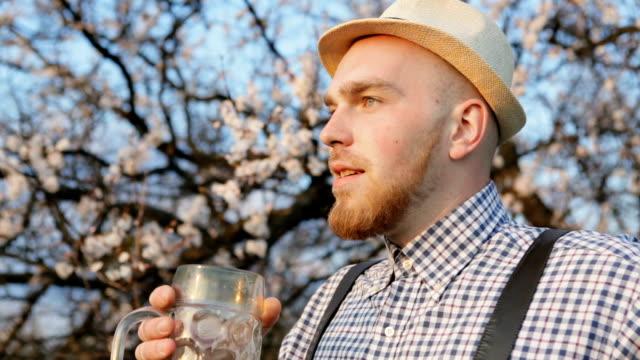 Tasty Beer Lover. Outdoors video