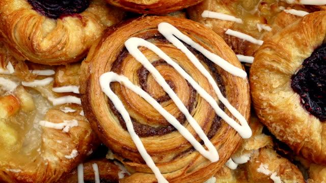Tasty Pastries Rotating Closeup video