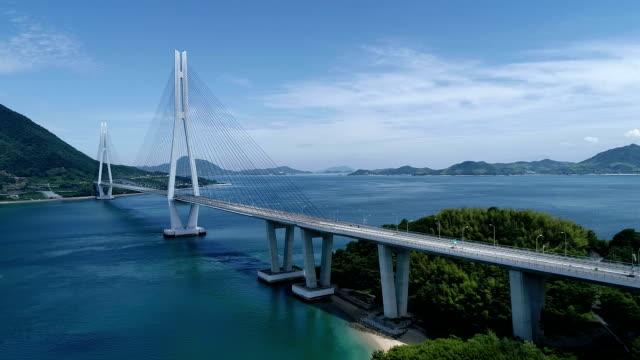 seto iç denizi, japonya tatara bridge'de - hiroshima stok videoları ve detay görüntü çekimi