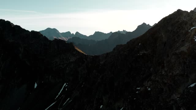 Tatra Mountains drone point of view.