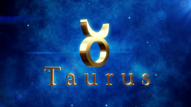 taurus (zodiac air sign)/endlos wiederholbar - stier stock-videos und b-roll-filmmaterial