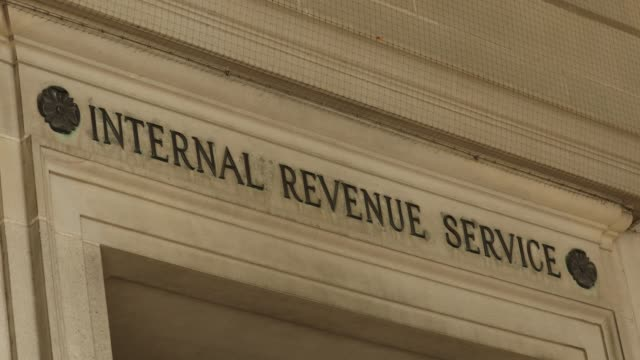 irs tax building in washington dc usa - governo video stock e b–roll