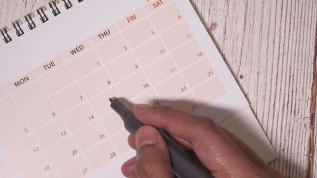 Tax day marked on April 2020 monthly calendar Tax day marked on April 2020 monthly calendar april stock videos & royalty-free footage
