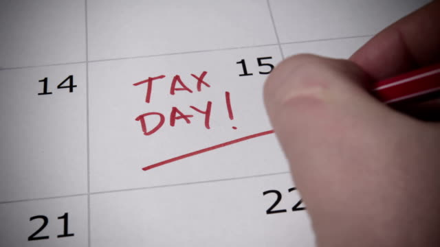 Tax Day Reminder 2019 Tax Day, Deadlines for 2018 Returns taxes stock videos & royalty-free footage
