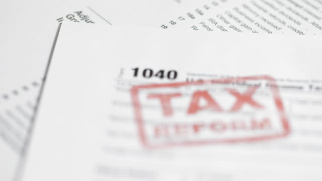 Royalty Free 1040 Tax Form Hd Video 4k Stock Footage B Roll Istock