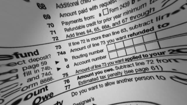 IRS 1040 Tax Form Macro video