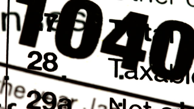 USA tax forms concept background