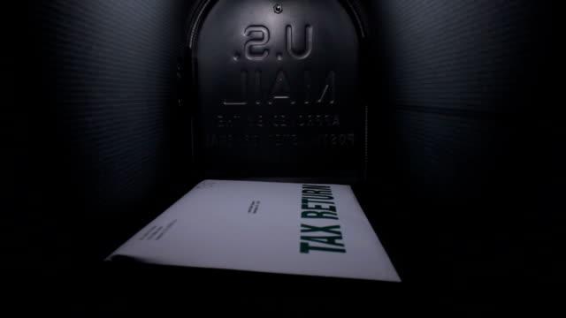 Tax return in the mailbox