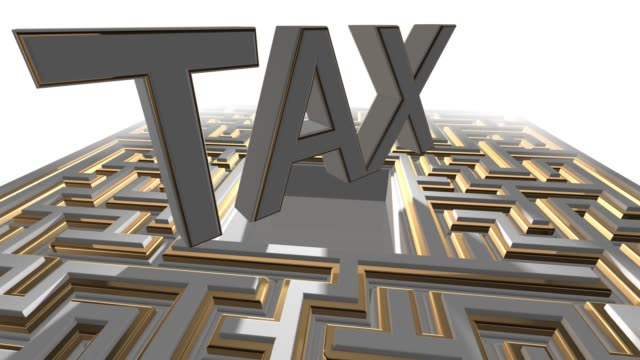 Taxation maze labyrinth of financial tax returns and regulation