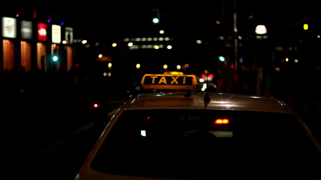 taxi at night video