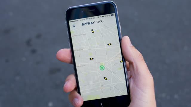 Provenientes de taxi y la reserva de la aplicación - vídeo