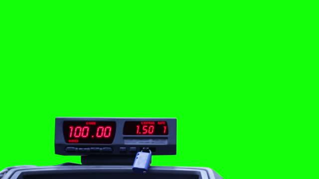taxi metro sul green - fare video stock e b–roll