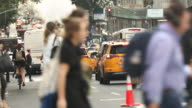 istock Manhattan, New York - September 19, 2019:  Taxis, bikes and car traffic roll down Broadway at rush hour on the busy streets of downtown Manhattan New York City USA 1213536014