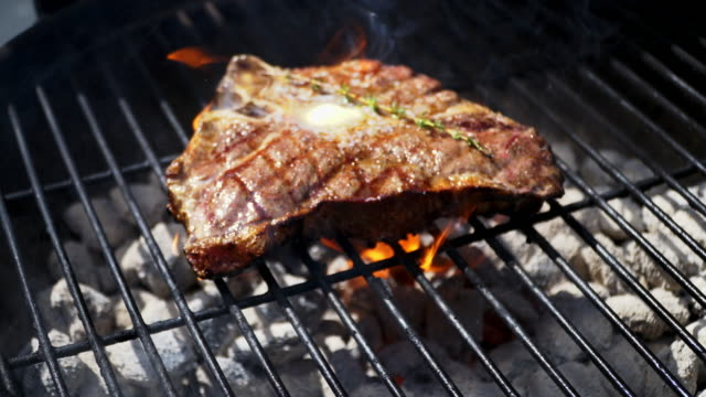 T-Bone Steak on the Grill video