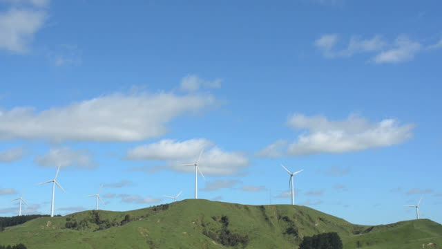 Te Apiti Wind Farm in Palmerston North, New Zealand