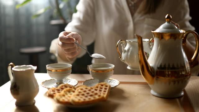 tea ceremony - zucker stock-videos und b-roll-filmmaterial