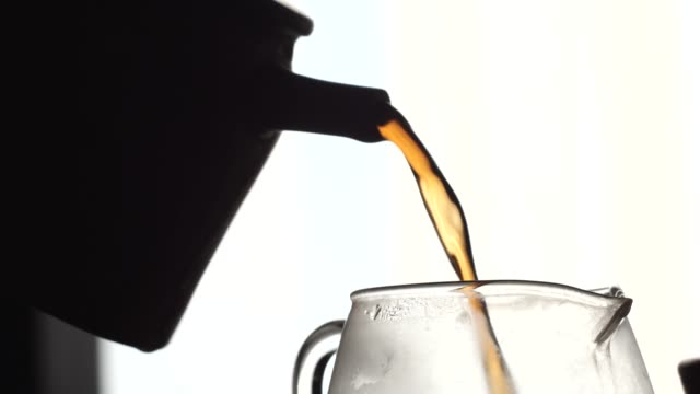 Tea Ceremony with Yixing Teapot. Powerful Tea Jet video