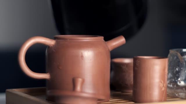 Tea Ceremony with Yixing Teapot video