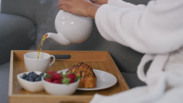 tea is perfect for relaxing - teapot stock videos & royalty-free footage