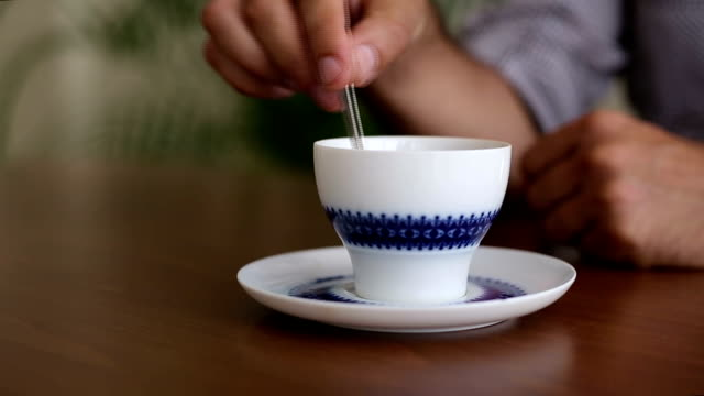tea stirring - tea cup stock videos & royalty-free footage